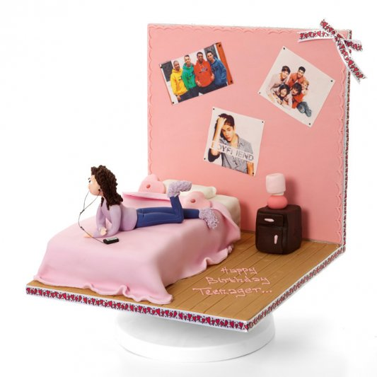Teenagers Bedroom Girls Celebration Cakes Childrens