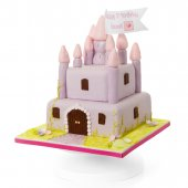Pink Silver Castle - online cakes